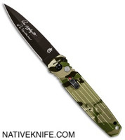 Gerber Auto Covert Automatic Knife Green Multi-Cam 30-001601