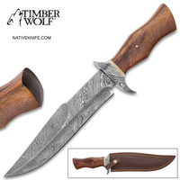 Timber Wolf Oakhurst Fixed Blade Knife With Sheath