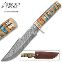 Timber Wolf Macedonia Fixed Blade Knife With Sheath