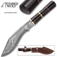 Timber Wolf Nepalese Kukri Knife With Sheath