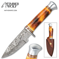 Timberwolf Australian Outback Damascus Fixed Blade Knife