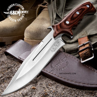 Hibben Legacy Combat Fighter Knife II With Leather Sheath GH5072