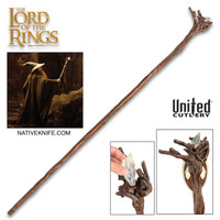 LORD OF THE RINGS  Illuminated Moria Staff Of Gandalf And Display Plaque UC3328