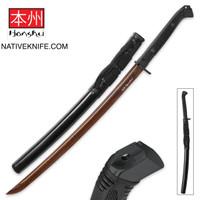 Honshu Boshin Hellfire Damascus Handmade Wakizashi Sword UC3125D