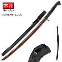 Honshu Boshin Hellfire Damascus Handmade Katana Sword UC3176D