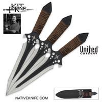 Kit Rae HellHawk 9 3/4 Inch Throwing Knife Triple Set KR0057