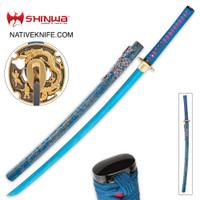 Shinwa Lazuli Handmade Katana Samurai Sword KZ1008BLDZ