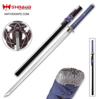 Shinwa Blue Knight Handmade Katana Samurai Sword KZ747NDZ