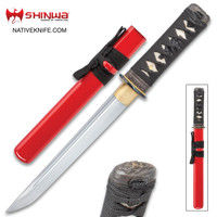 Shinwa Scarlett Hand-Forged Tanto Knife With Scabbard KZ1033