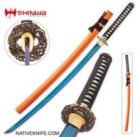 Shinwa Imperial Blue Samurai Katana Sword KZ1012