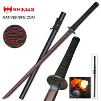 Shinwa Black Emperor Katana Sword Damascus Steel KZ6201BDZ