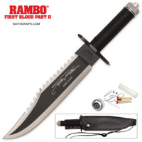 Rambo II Stallone Signature Edition Knife With Survival Kit MCRB2SS