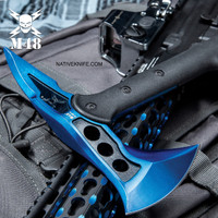 M48 Blue Tactical Tomahawk Axe With Snap On M48 Sheath UC3320