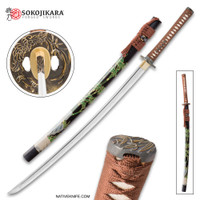 Sokojikara Shadow Grove Handmade Katana Samurai Sword Hand Forged Clay Tempered 1065 High Carbon Steel