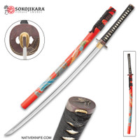 Sokojikara Soul Crane Handmade Katana Samurai Sword Hand Forged Clay Tempered 1065 High Carbon Steel