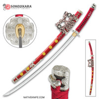 Sokojikara Senzo Handmade Tachi  Samurai Sword Clay Tempered 1045 Carbon Steel Hand Forged