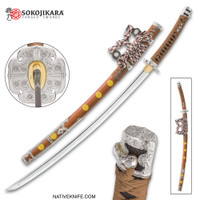 Sokojikara Natsukashii Handmade Tachi Samurai Sword Clay Tempered 1045 Carbon Steel Hand Forged