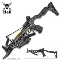 M48 Hell Hawk Self-Cocking Assault Crossbow Pistol BKCB13
