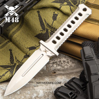 M48 OPS Combat Dagger With Sheath CNC Machined D2 Tool Steel UC3376