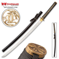 Shinwa Black Flying Dragon Katana Sword And Scabbard KZ1049