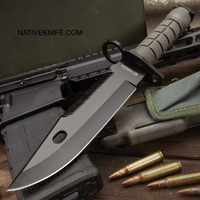 M4/M16 M-9 Bayonet Knife With Tactical mollie Sheath