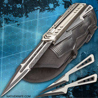 Native  Enforcer Tactical Gauntlet And Throwing Knives