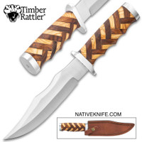 Timber Rattler Handcrafted Heirloom Bowie Knife