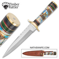 Timber Rattler Raindance Bowie / Fixed Blade Hunting Knife