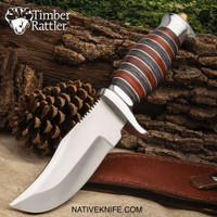 Timber Rattler Sonora River Knife With Sheath