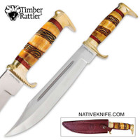 Timber Rattler Amarillo Skies Bowie Fixed Blade Knife