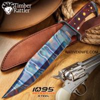 Timber Rattler Gunslinger Bowie Knife With Sheath