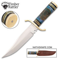 Timber Rattler Nile Hunter Knife With Sheath