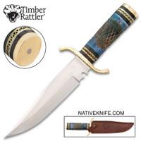 Timber Rattler Nile Hunter Knife With Sheath