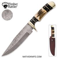 Timber Rattler Colorado Hunter Damascus Knife