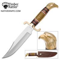 "Timber Rattler ""Wind Sultan"" Golden Eagle Head Fixed Blade Knife"