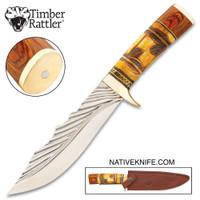 Timber Rattler Nairobi Hunter Knife With Sheath