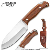 Timber Wolf All-Terrain Knife With Sheath - Carbon Steel Blade