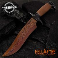 Hibben HellFyre Highlander Bowie Knife With Sheath GH5089