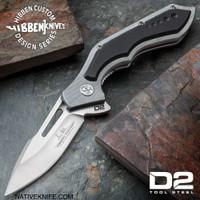 Hibben Hurricane D2 Pocket Knife D2 Tool Steel Blade GH5080D2