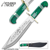 Timber Wolf Celtic Heritage Bowie Knife And Sheath TW1134