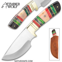 Timber Wolf Emerald Isle Knife With Sheath TW1035