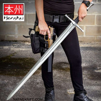Honshu Broadsword With Scabbard - 1060 High Carbon Steel Blade UC3265