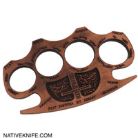 Constantine Holy Spiritus Constantine Brass Knuckle Paper Weight Copper