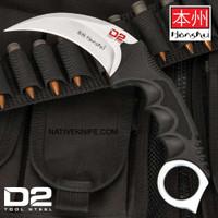 United Cutlery Silver Honshu Karambit D2 Tool Steel Blade Knife
