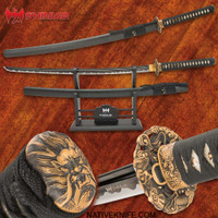 Shinwa Maelstrom Dragon Katana With Scabbard 1060 Carbon Steel Blade