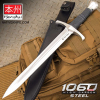Honshu Crusader Quillon Dagger With Sheath - 1060 Carbon Steel Blade UC3430