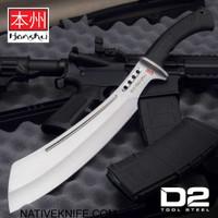 Honshu D2 Boshin Parang With Leather Belt Sheath D2 Tool Steel UC3242D2