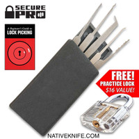 Secure Pro Credit Card-Sized Lock Picking Set and Practice Padlock