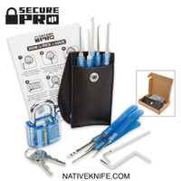 Secure Pro Practice Lock And Lock Pick Kit Blue