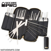 Secure Pro 33-Piece Lock Picking Set With Zippered Case